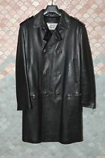 Gianni Versace True Vintage Calf Leather Coat, Italian 50, M, US 40, Black