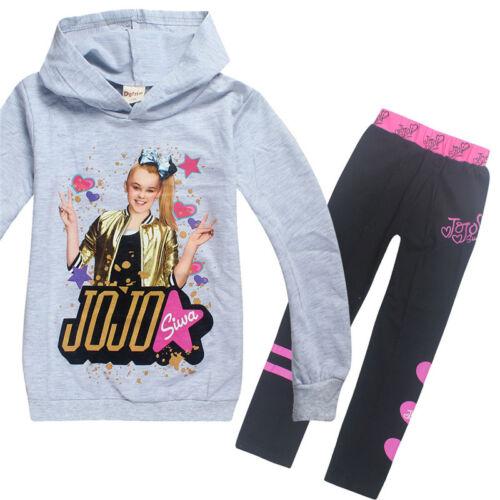 pantalon 2019 nouvelles filles Jojo Siwa Hoodies Casual Cartoon Tops Sweat Vêtements