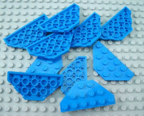 LEGO Lot of 10 Blue 3x6 Cut Corner Plates