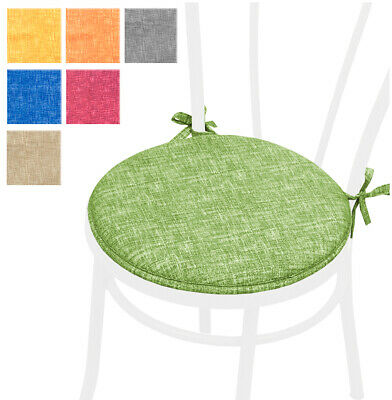 CUSCINO coprisedia ROTONDO cuscini sedie tinta unita cucina sedie laccetti casa | eBay