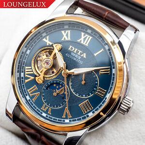 Mens-Flywheel-Luxury-Bling-Skeleton-Automatic-Mechanical-Wrist-Stainless-Watch