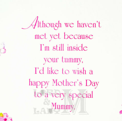 Various Designs Mum To Be Pregnant Mother/'s Day Card Mothers From The Bump