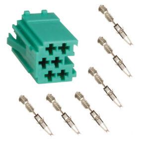 Auto Radio Mini ISO Stecker Leergehäuse 6 Polig Grün + Micro Timer Kontakte