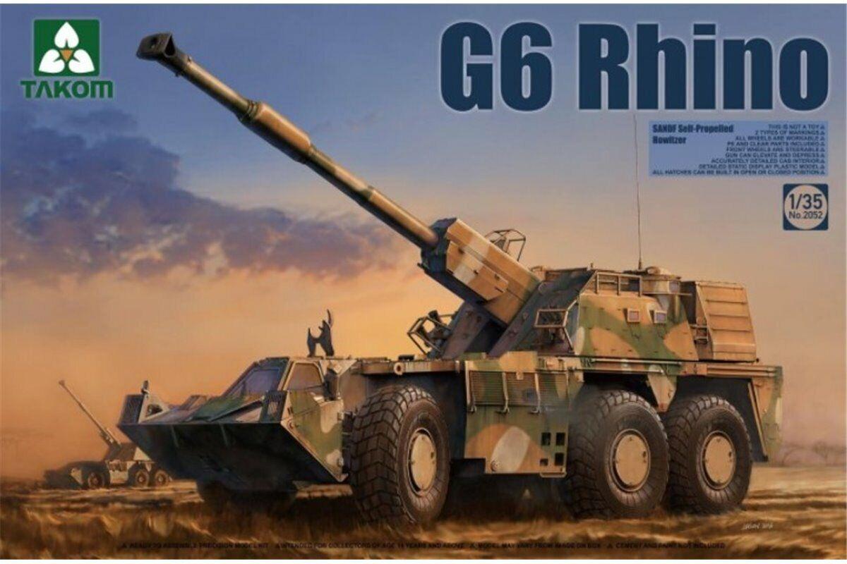 Takom 2052 1 35 G6 Rhino Rhino Rhino SANDF Self-Propelled Howitzer 15d