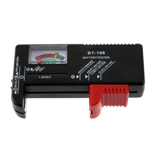 AA/AAA/C/D/9V/1.5V Universal Button Cell Battery Volt Tester Checker BT-168 EH