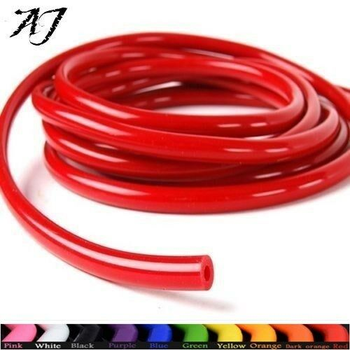 "AJ For 1//8/"" 3mm 10 Feet Fuel Air Silicone Vacuum Hose Line Tube Pipe Red New"
