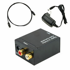 Digital Optical Coaxial Toslink S/PDIF to Analog R/L Audio Converter Box for TV