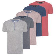 T-Shirt Esprit 1er 2er 3er Pack Herren Grandad Rundhals Meliert Unifarben Basic