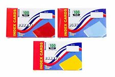 3 Pack Colored Index Cards 3x5 Inch Unruled 100 Count Per Package Colors Ca