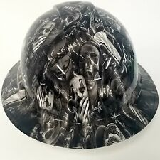 New Full Brim Hard Hat Custom Hydro Dipped In Why So Serious Black And White