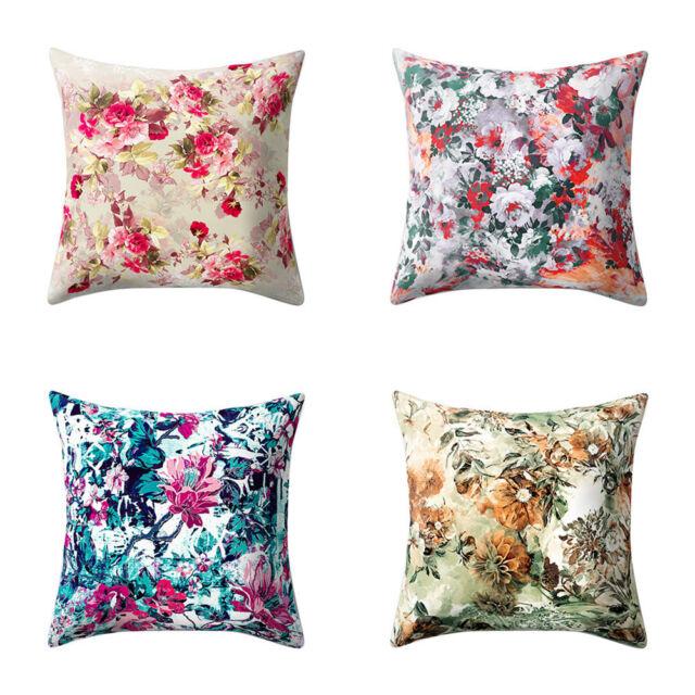BL_ Vintage Floral Pillow Case Soft Waist Cushion Cover Car Sofa Home Decor Eyef