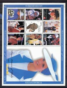 TURKMENISTAN-1997-Lady-Diana-Gandhi-Pope-John-Paul-Large-Mini-Sheet-MNH-DAB-682