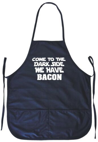 Come to the Dark Side We Have Bacon Cooking Apron With Pockets
