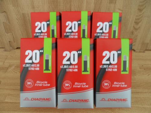 """6 20x2.30 2.40 2.50 Bicycle Bike Inner tubes for BMX Fat 20/"""" Tube Lot of Six"""