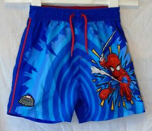 Boys-George-Blue-Red-Marvel-Spiderman-Super-Hero-Squad-Shorts-Age-2-3-Years