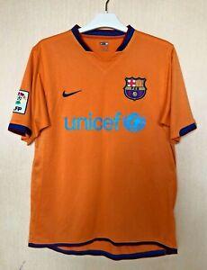 FC BARCELONA 2006\2008 AWAY  FOOTBALL JERSEY CAMISETA SOCCER MAGLIA SHIRT NIKE