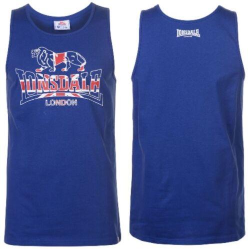 NEW Lonsdale Mens GB London Gym Vest Size S M L XL 2XL Sports Holiday