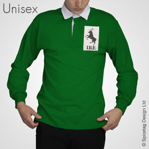 3a15eed424b Vintage Ireland Rugby Jersey 6 Six Nations Polo Shirt Irish Retro ...