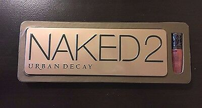 Urban Decay Naked 2 Palette & Lip Gloss - 100% AUTHENTIC