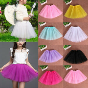 Girls-Children-Kids-Tutu-Dancewear-Skirt-Dress-Up-Fancy-Party-Ballet-Pettiskirt