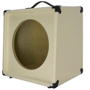 1x12 guitar speaker extension cabinet empty ivory white texture tolex ebay. Black Bedroom Furniture Sets. Home Design Ideas
