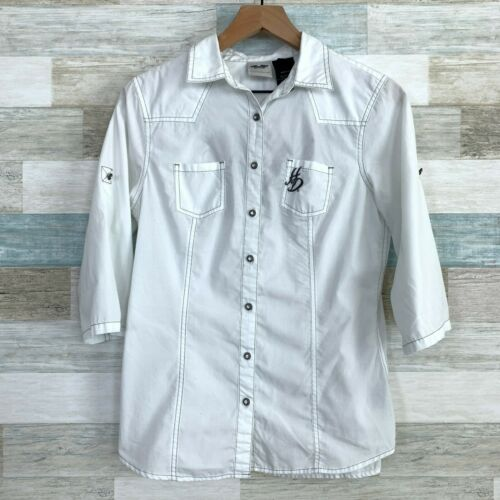Harley Davidson Embroidered Wings Logo Button Down