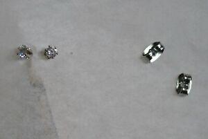 1-3-Carat-Pair-of-Round-Cubic-Zirconia-Stud-Earrings-new-in-plastic-bag