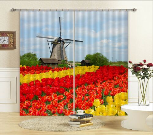 3D Windmühle 797 Blockout Photo Curtain Print Curtains Drapes Fabric Window AU