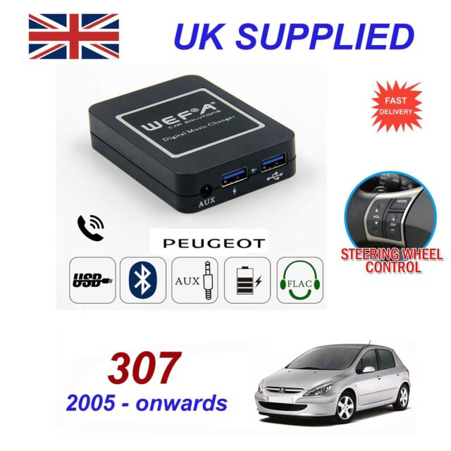 For Peugeot 307 Music Streaming Bluetooth Telephone Charger SD AUX CD  Module RD4