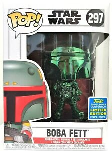 Funko-Pop-Boba-Fett-Green-Chrome-297-Star-Wars-SDCC-2019-Limited-Edition-New
