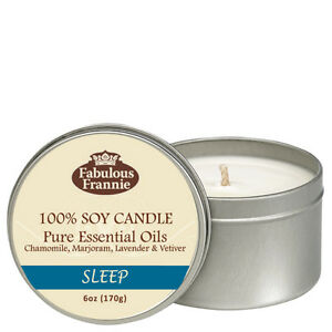 Frankincense 6oz All Natural Soy Candle Pure Essential Oils Fabulous Frannie