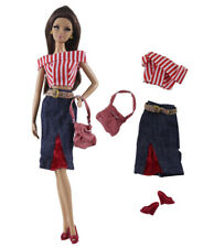 4in1 Fashion Red Dress Clothes//Outfit Bag+Boots  For 11.5in.Doll