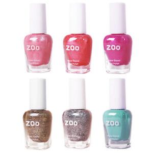 zoo kid's nail polish 6 shimmer color set85mlwater