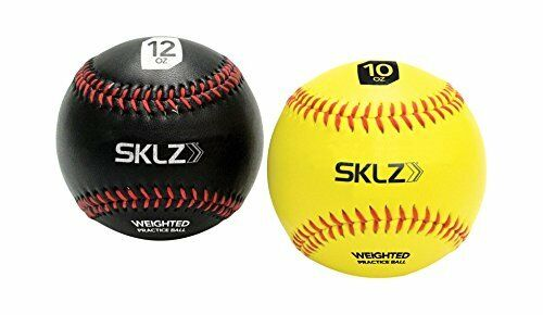NOIR 12 oz environ 340.19 g livraison gratuite environ 283.49 g Nouveau SKLZ Weighted Baseball 2 pack Jaune 10 oz