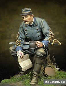 Échelle 75 Nécessaire confédéré pour officiers sans accident Acw Metal, kit 75 mm non peint