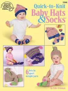 Image is loading Knitting-Pattern-Book-QUICK-BABY-Hats-amp-SOCKS- 8952ea8bce8