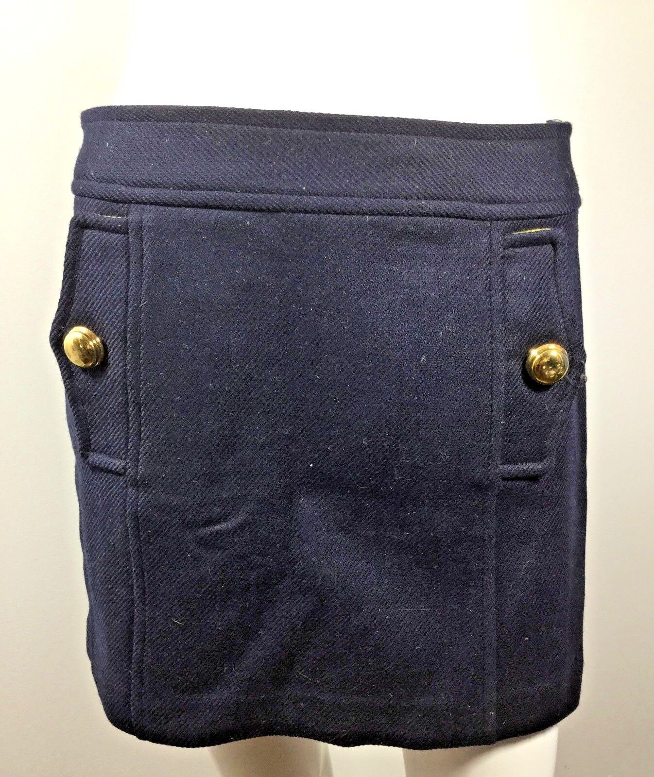 MILLY OF NEW YORK Navy bluee Above Knee Length Skirt Size 4