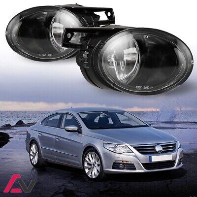 Pair 06-10 VW Passat Clear Fog Lights Driving Lamp Lens