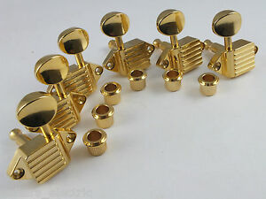 Kluson-3-A-Side-Waffleback-CABEZAS-Dorado-sintonizadores-de-SK900SLG-O-Ovalado