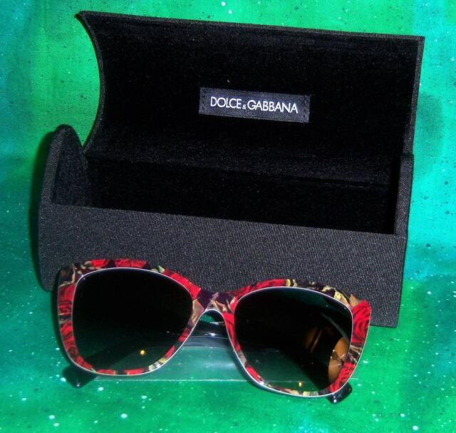 a6fdd5dc3168 NEW RARE AUTHENTIC DOLCE GABBANA 4216 PRINTING ROSES ON BLACK WOMEN  SUNGLASSES