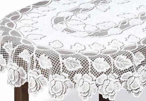 """71/""""x51/"""" Nouveau fantaisie ovale dentelle blanche nappe 130x180 cm cadeau idéal"""