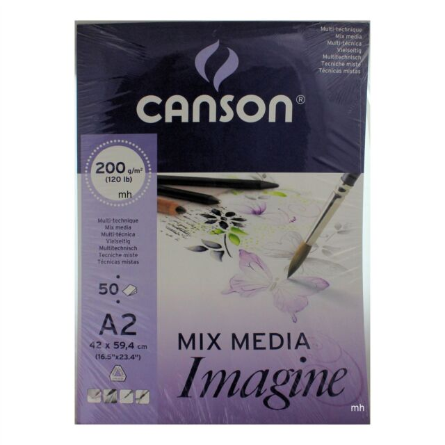 A4 pad including 50 sheets of 120gsm white cartridge drawing paper Canson 1557