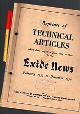 CAR Trouble-Shooting EXIDE NEWS 1939-50 104pg Auto-Electrics GC++ Battery MORE!!