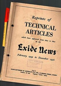 CAR-Trouble-Shooting-EXIDE-NEWS-1939-50-104pg-Auto-Electrics-GC-Battery-MORE