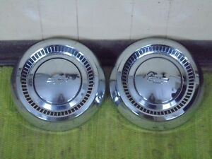 Details About 1964 Chevrolet Dog Dish Hubcaps 10 1 2 Set Of 2 Hub Caps 64