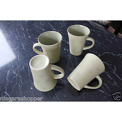 AVON STONEWARE MUGS*Pick Color & Qty*BLUE/GREEN/ROSE/YELLOW*HAND PAINTED*New*