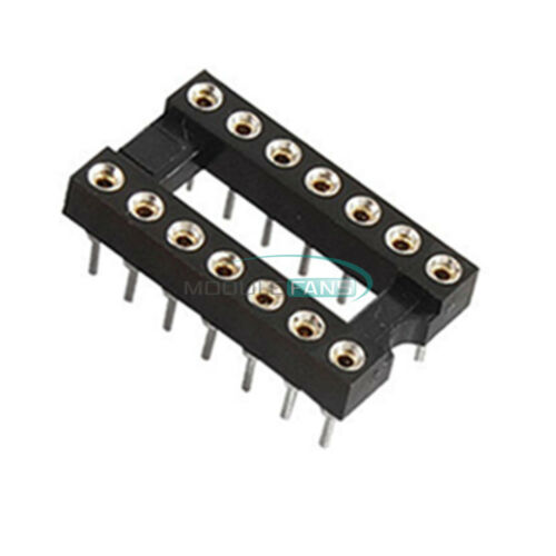 5PCS 14Pin DIP SIP Round IC Sockets Adaptor Solder Type Gold Plated Machined MF
