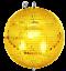 Indexbild 1 - Spiegelkugel-mit-Sicherheitsoese-30cm-gold-Discokugel-Mirrorball-30cm-gold