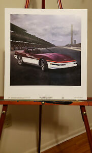 79th Indianapolis 500 May 28th 1995 Corvette Pace Car Print by Richard Pedersen