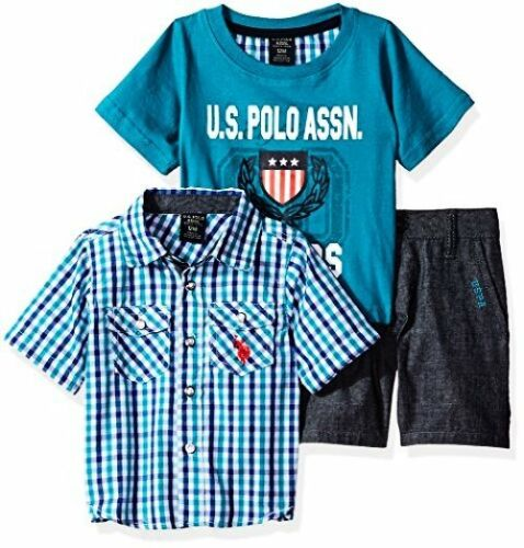US Polo Assn Baby Boys Sleeve Sport Shirt Childrens Apparel U.S